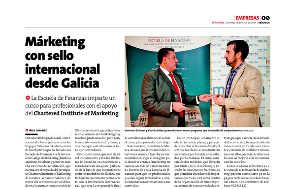 Marketing con selo internacional