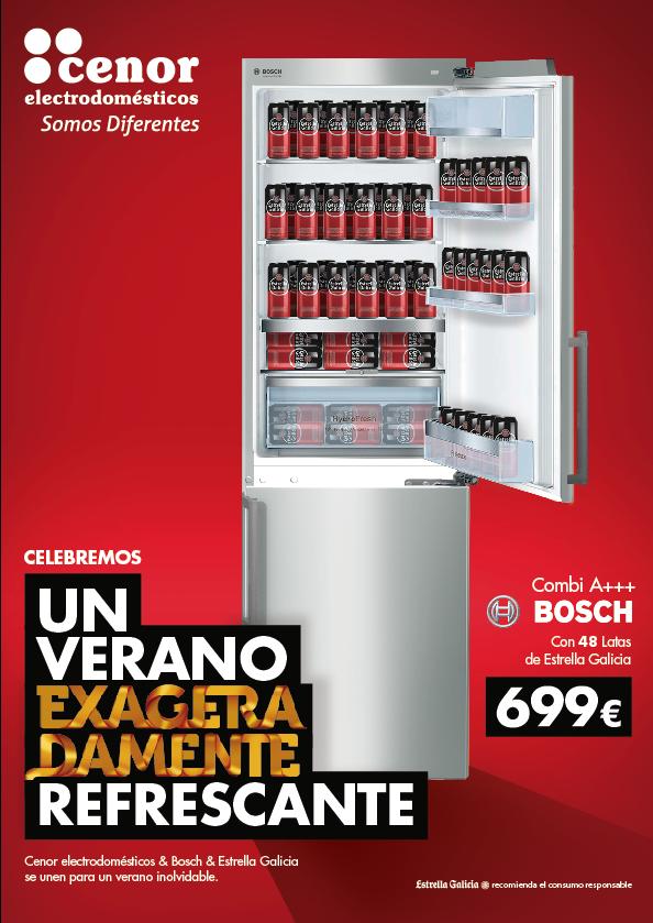 Bosch y Estrella Galicia, protagonistas de la nueva promoción de verano de Cenor Electrodomésticos