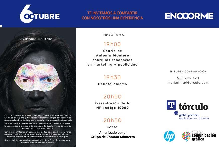 Antonio Montero, o próximo xoves en Tórculo